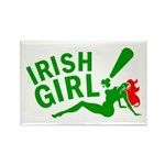 Redhead Irish Girl Rectangle Magnet