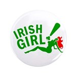 "Redhead Irish Girl 3.5"" Button (100 pack)"