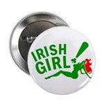 "Redhead Irish Girl 2.25"" Button (100 pack)"
