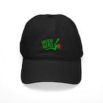 Redhead Irish Girl Black Cap