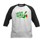 Redhead Irish Girl Kids Baseball Jersey