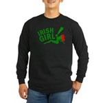 Redhead Irish Girl Long Sleeve Dark T-Shirt