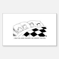 A Warm Quilt Rectangle Decal