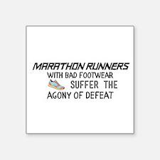 Marathon runners with bad footwear suffer Sticker