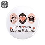 Peace Love Alaskan Malamute 3.5
