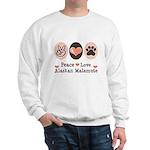 Peace Love Alaskan Malamute Sweatshirt