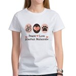 Peace Love Alaskan Malamute Women's T-Shirt