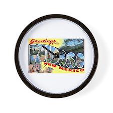Ruidoso New Mexico Greetings Wall Clock