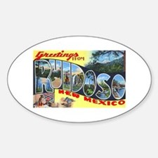 Ruidoso New Mexico Greetings Oval Decal