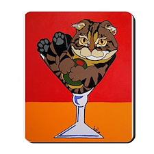 Scottish Fold Martini Mousepad