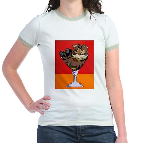 Scottish Fold Martini Jr. Ringer T-Shirt