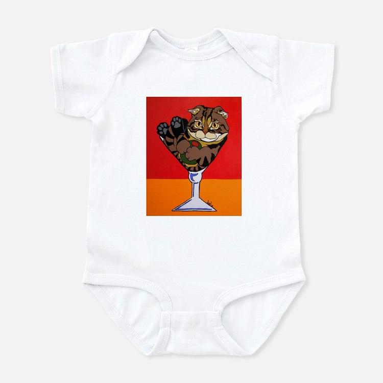 Scottish Fold Martini Infant Bodysuit
