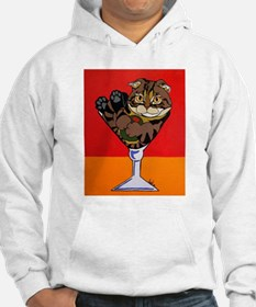 Scottish Fold Martini Hoodie