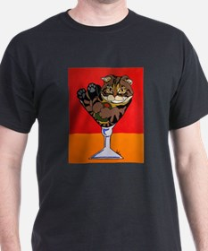 Scottish Fold Martini T-Shirt