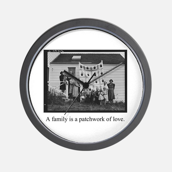Family - Quilt of Love Wall Clock