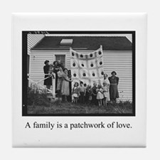 Family - Quilt of Love Tile Coaster