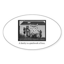 Family - Quilt of Love Oval Decal