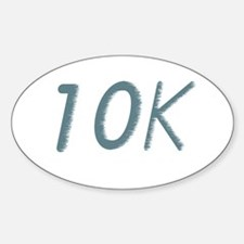 Running's Life Lessons - 10K Oval Decal