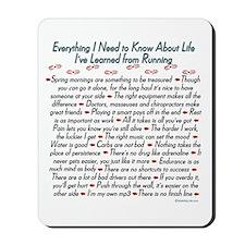 Running's Life Lessons - 10K Mousepad