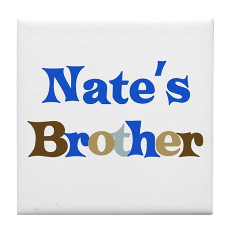 Nate's Brother Tile Coaster