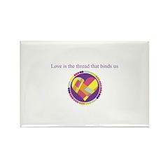 Love - Sew Quilt Heart Rectangle Magnet (100 pack)