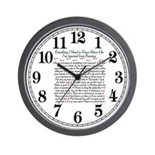 Running's Life Lessons Wall Clock