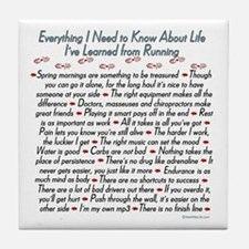Running's Life Lessons Tile Coaster