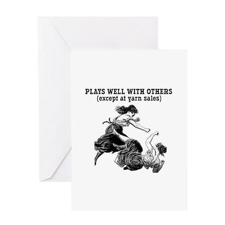Yarn Sales Greeting Card