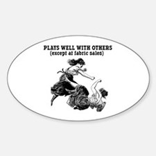 Fabric Sales Oval Decal