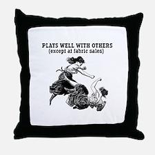Fabric Sales Throw Pillow