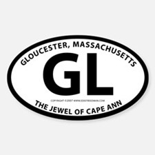 Gloucester Oval Decal