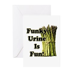 Asparagus Pee Greeting Cards (Pk of 10)