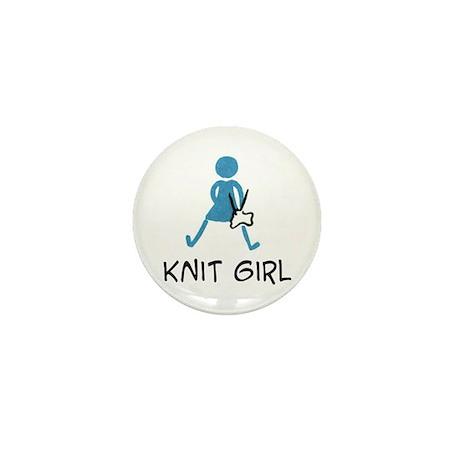 Retro Knit Girl Mini Button (100 pack)