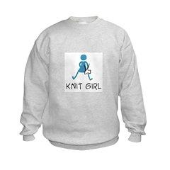 Retro Knit Girl Sweatshirt