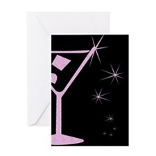 Pink Martini Blank Greeting Card