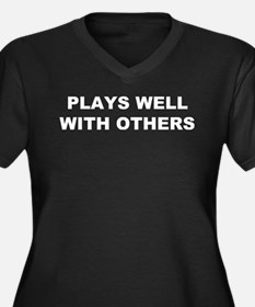 Plays Well With Others Women's Plus Size V-Neck Da