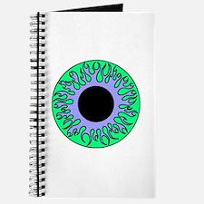 Blue & Green Flame Eyeball Journal