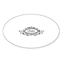 Knitter - Victorian Filigree Oval Decal