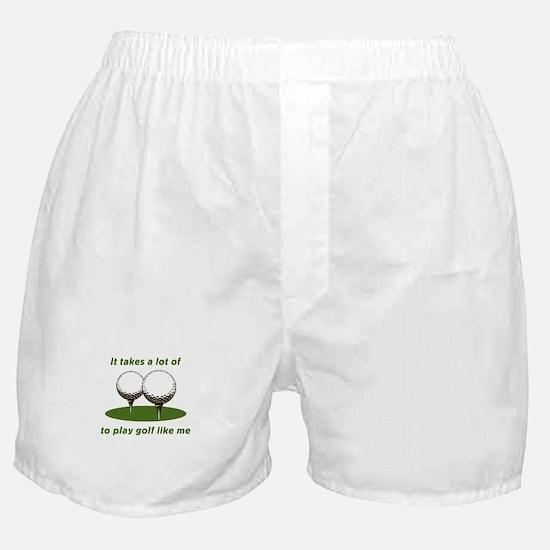It Takes Balls To Play Golf L Boxer Shorts