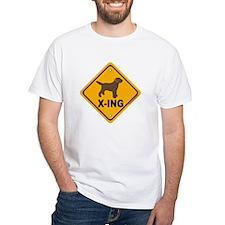 Chocolate Lab X-ing Shirt