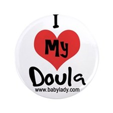 """I heart my Doula 3.5"""" Button (100 pack)"""