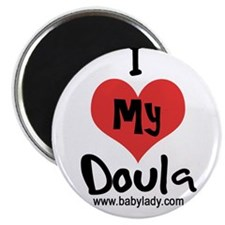 "I heart my Doula 2.25"" Magnet (10 pack)"
