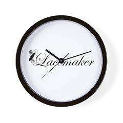 Lacemaker - Tatting Wall Clock