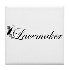 Lacemaker - Tatting Tile Coaster