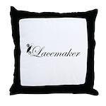 Lacemaker - Tatting Throw Pillow