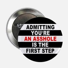 """AA The First Step is... 2.25"""" Button"""