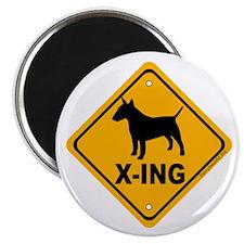 """Bull Terrier X-ing 2.25"""" Magnet (10 pack)"""