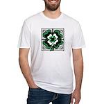 SHAMROCK DESIGN 1 Fitted T-Shirt