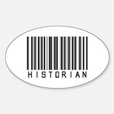 Historian Barcode Oval Decal