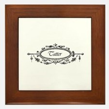 Tatter - Victorian Filigree Framed Tile